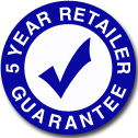 Five Year Retailer Guarantee FAQ