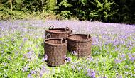 Outdoor Rattan Log Baskets