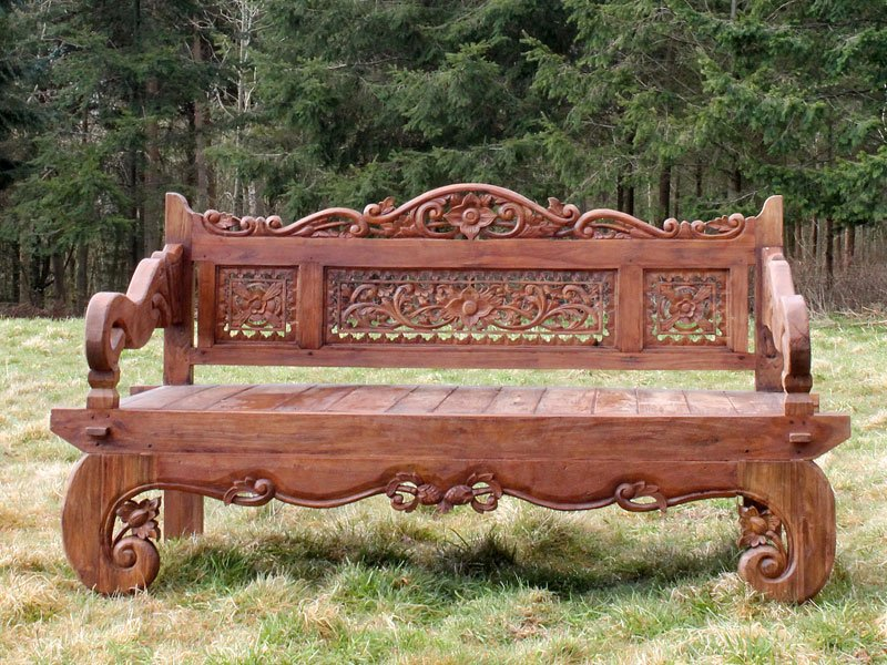 Buy carved elephant bench online