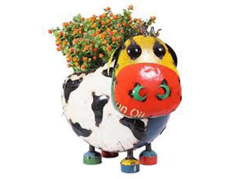 Barnyard Cow Planter