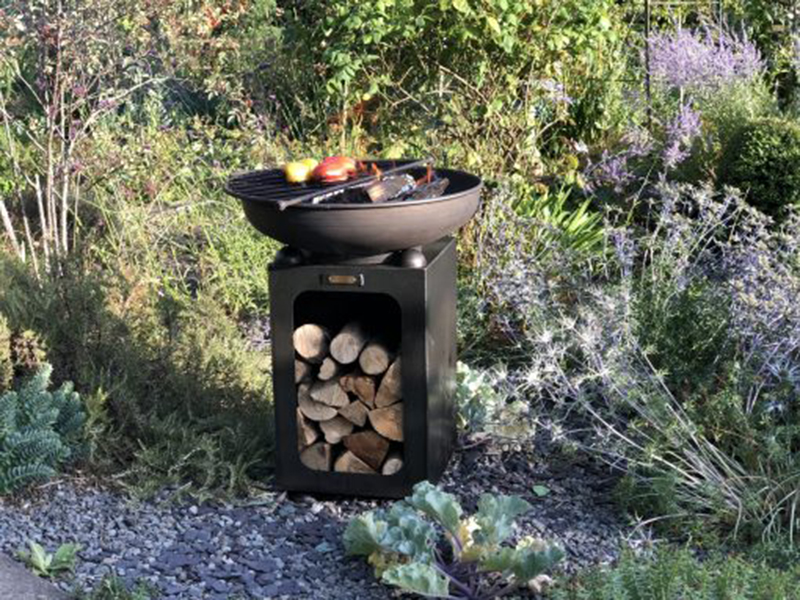 Fire Bowl with Log Store