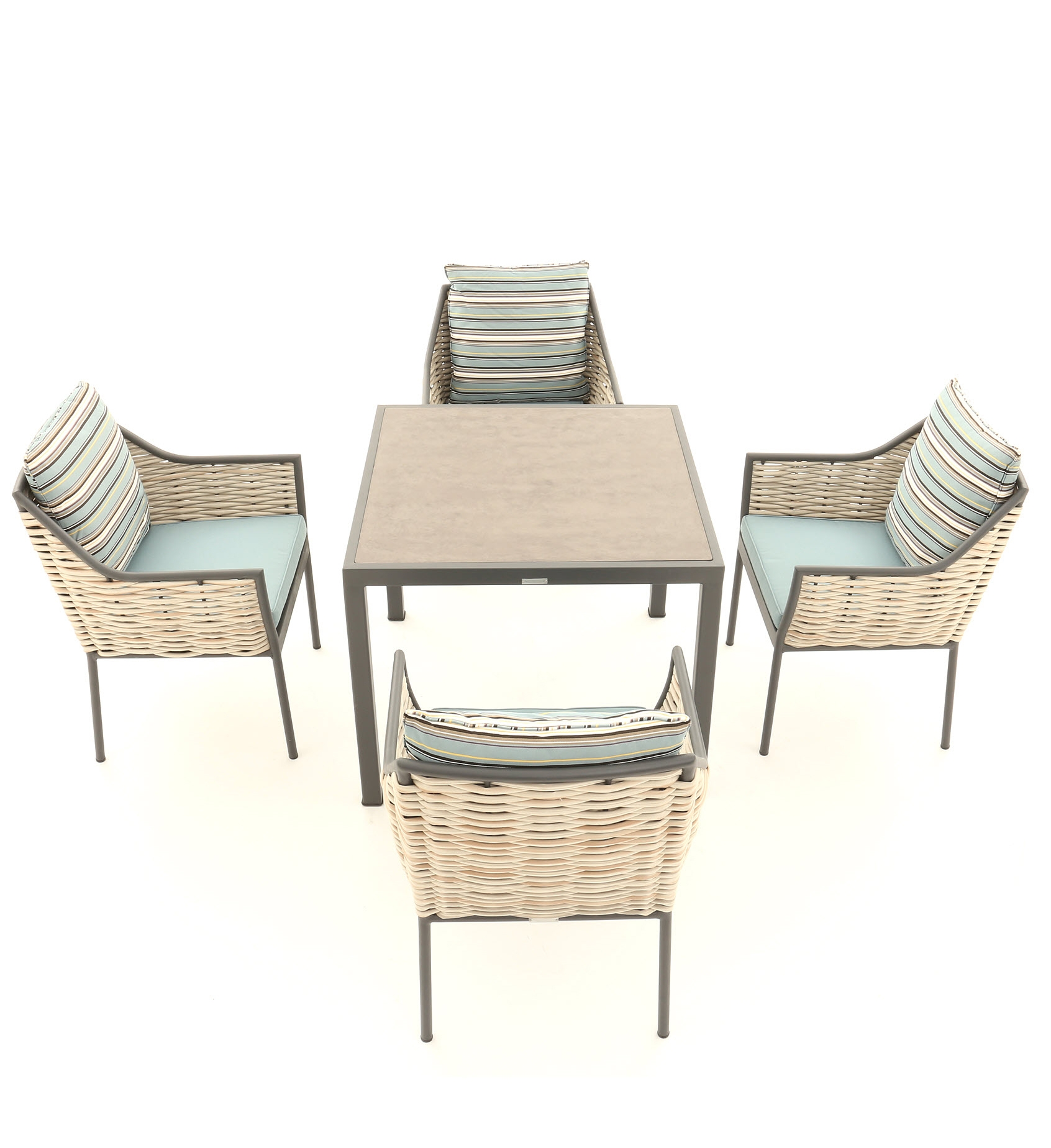 Click to view product details and reviews for Tahiti Stone Top Dining Set.
