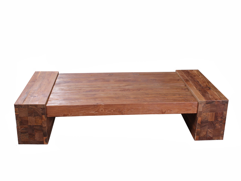 Buy Reclaimed Teak Block Coffee Table Online