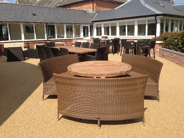 High Quality Rattan garden Furniture at the famous Ardencote Manor