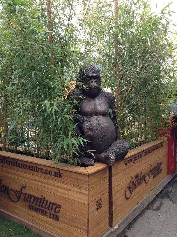 The Gorilla on guard at Chelsea Flower Show 2013