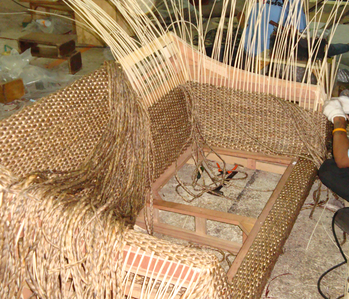 Water Hyacinth Furniture Plaited Weave Hand Woven