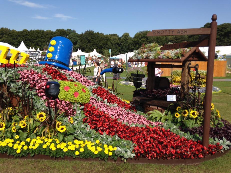 Ken Dodd themed garden at Tatton Park