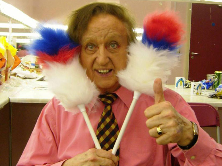 Ken Dodd In A Famous Pose