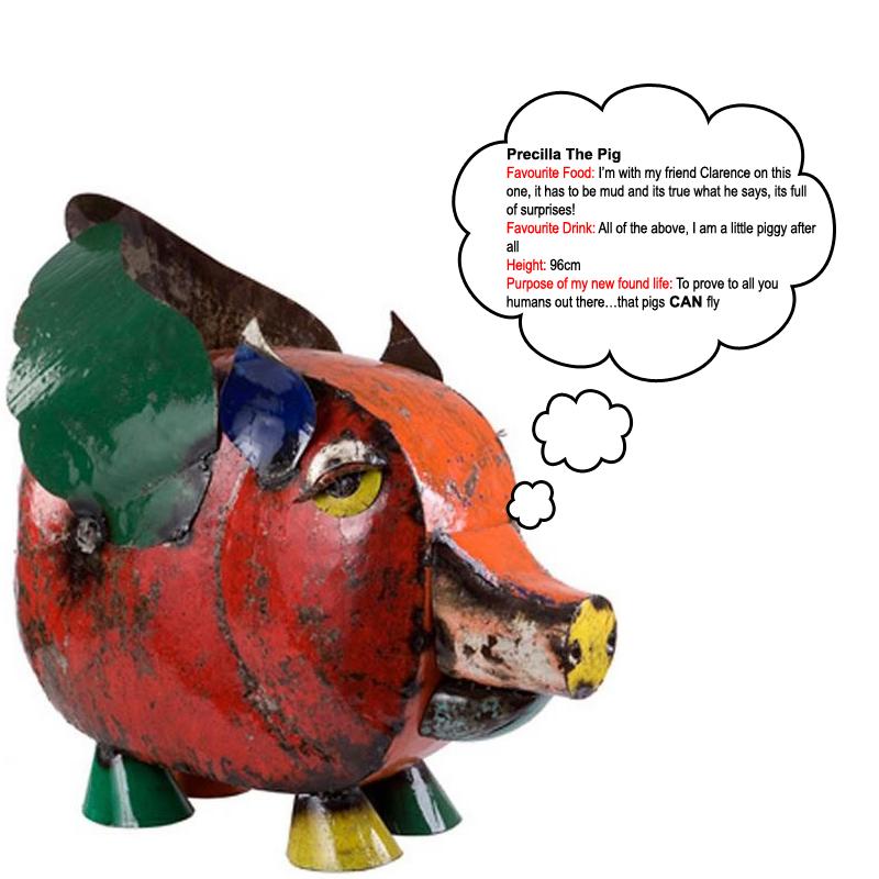 Precilla the pig - The Garden Furniture centre