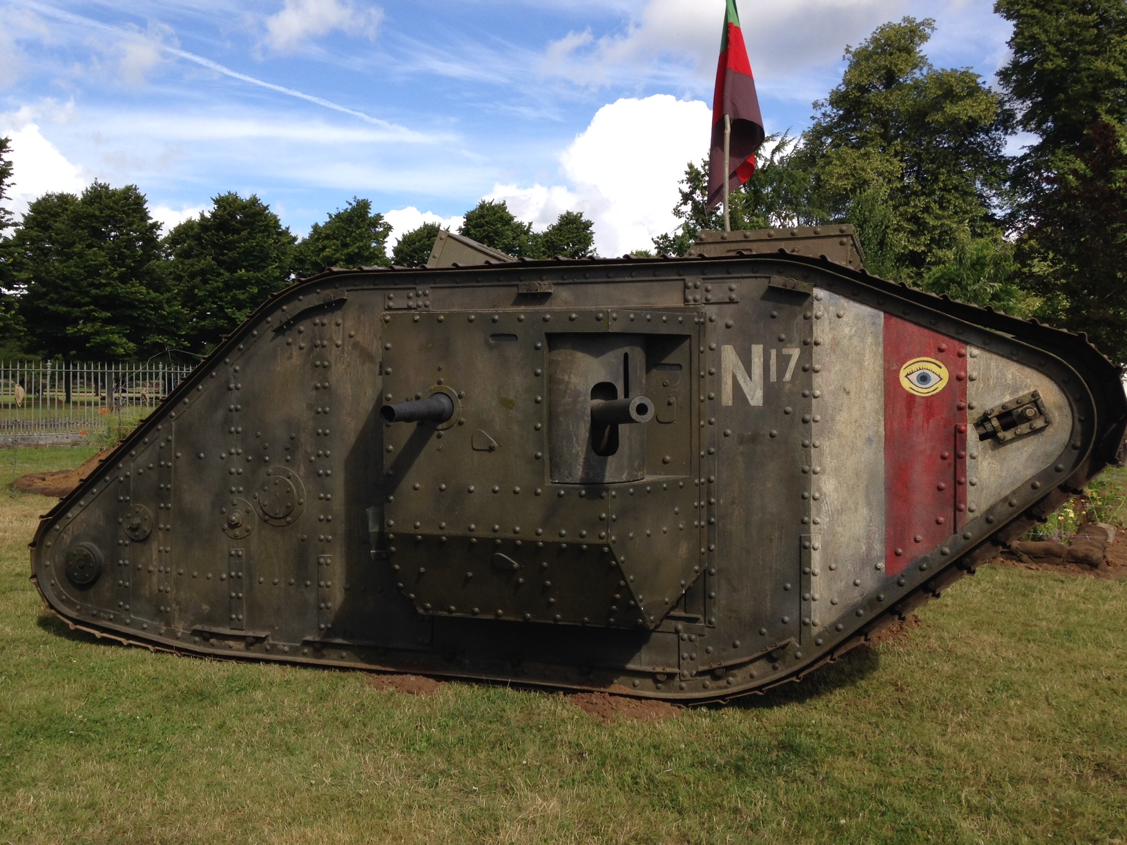 Tank at RHS Hampton court for Lest we Forget Memorial