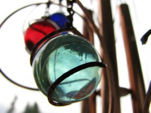 wind chimes can cause damage to your garden in high winds