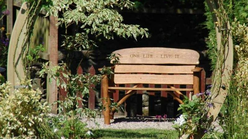 Engraved Bench on Love Your Garden 2013