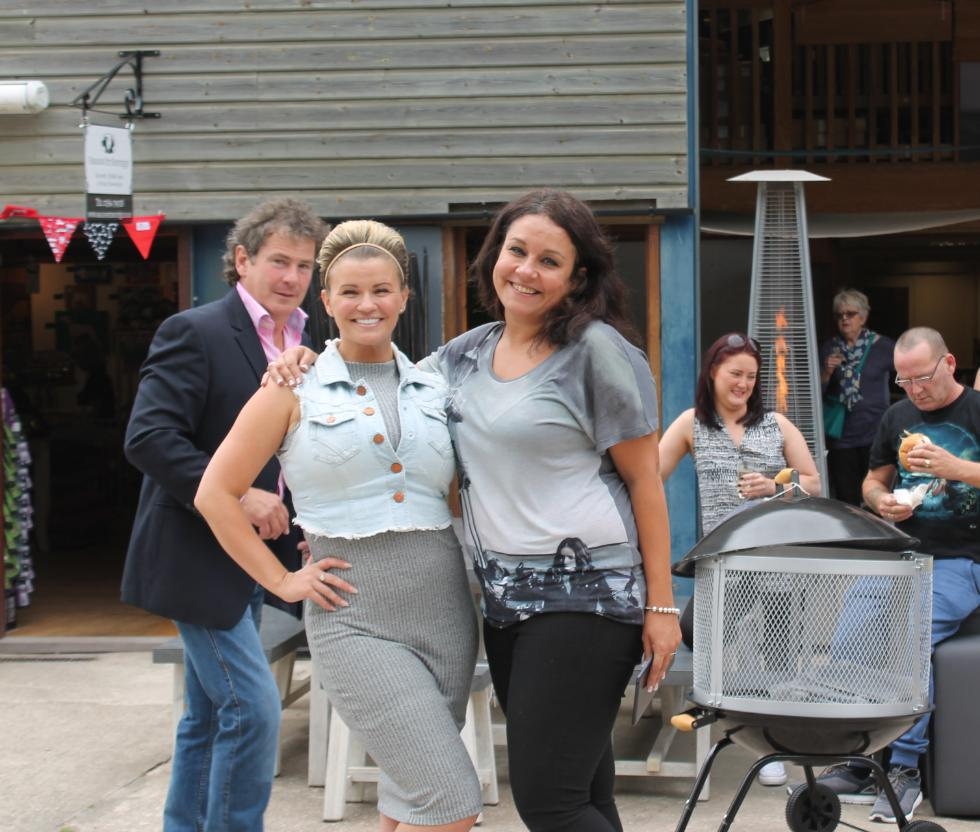 Lisa from our Sales Team with Kerry Katona