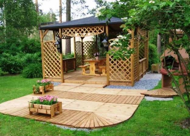 Pergolas and Gazebos look great in garden designs