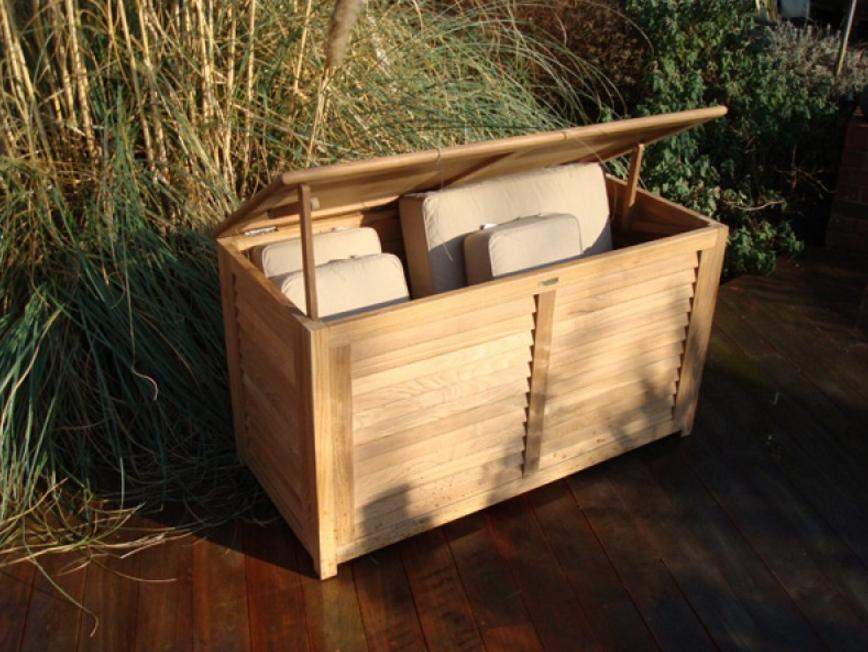 Ventilated Teak Cushion Boxes
