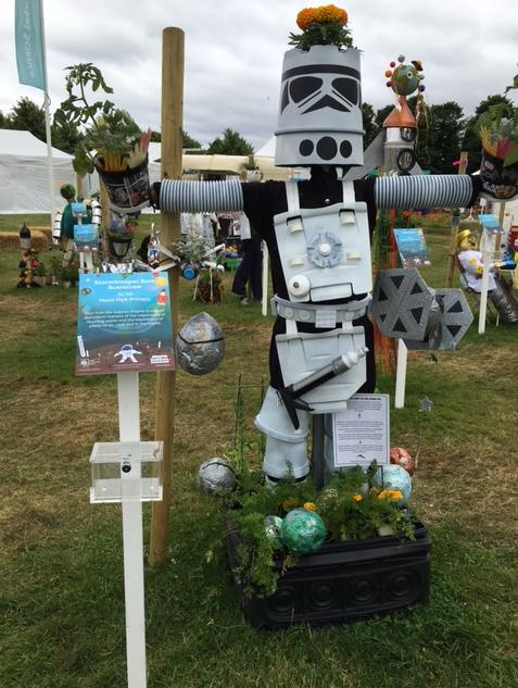 Space Scarecrows at Hampton Court Flower Show