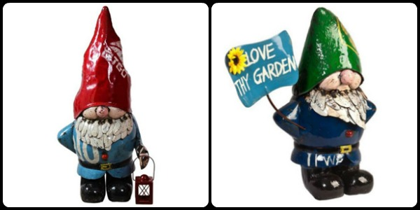 Larry and Lionel the Garden Gnomes