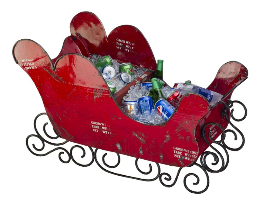 Santas Sleigh Drinks Cooler