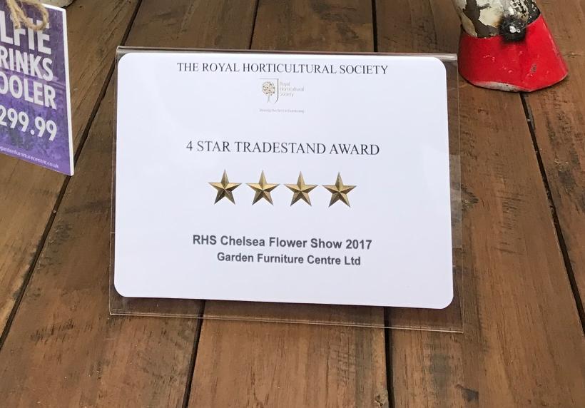 4 star trade stand award at RHS Chelsea 2017