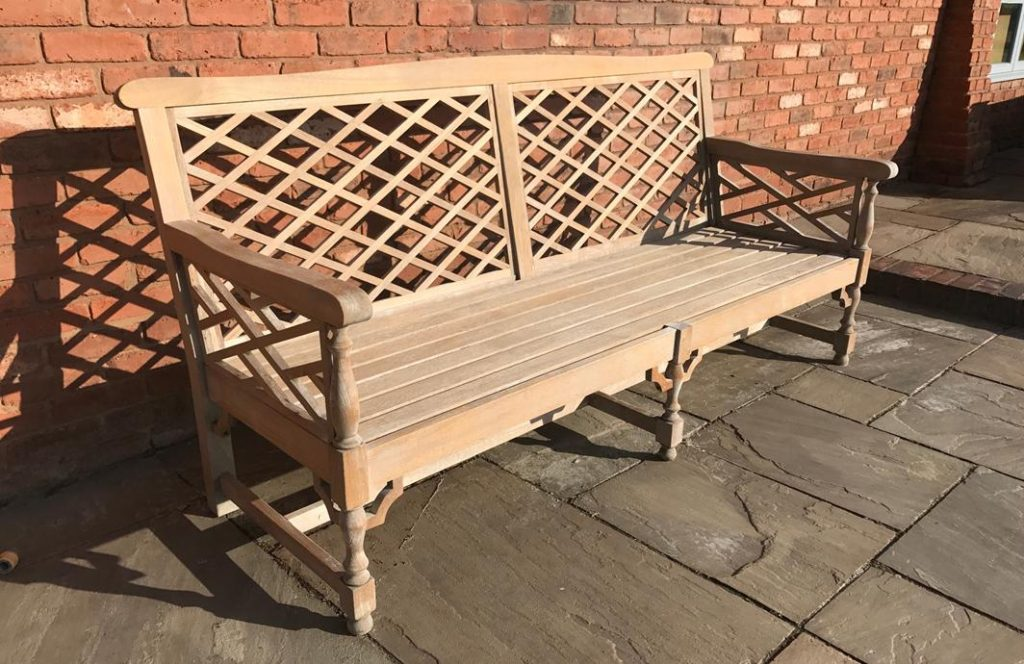 how to restore aged teak - after picture