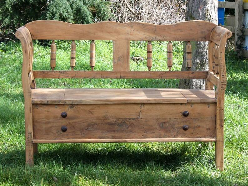 strorage benches in small gardens