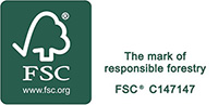 Look out for our FSC certified products.