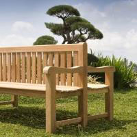 Double Backed Teak Benches