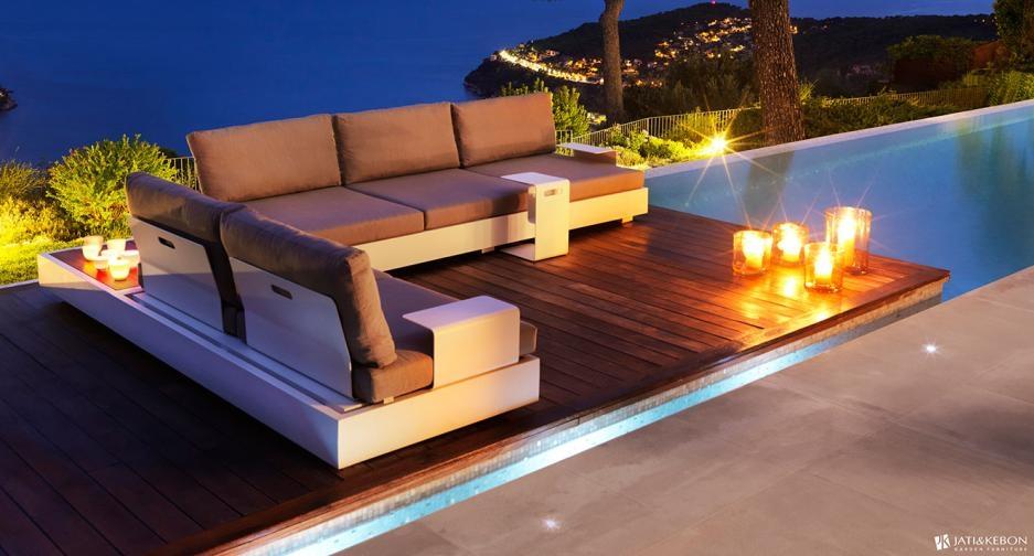 bari aluminium corner sofa suite