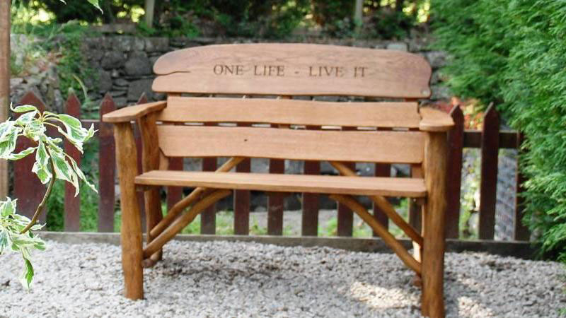 Memorial Bench from The Garden Furniture Centre