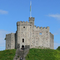 The ancient Cardiff Castle