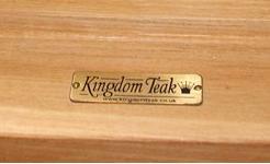 Chunky Teak Dining table from Kingdom Teak