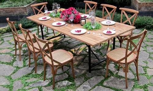 Colonial 8 Seater Reclaimed teak Dining set in all its glory