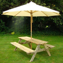 Add a parasol for when the weathers not great