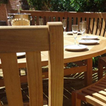 Curved Teak Dining Set