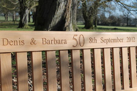 The Classic Memorial Bench is very popular