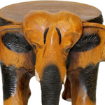 Genuinely hand carved small elephant table