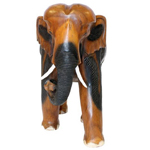 A sense of movement in the hand carved elephant ornament
