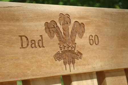Remember that big day forever with an engraved bench