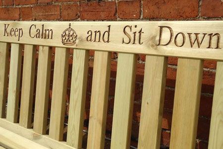 Make a poignant statement with an engraved bench