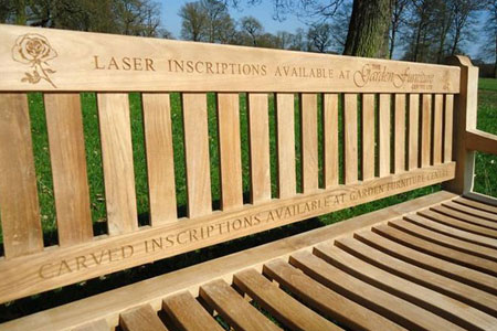 Adevertise your companies services on a bench that loads of people will see