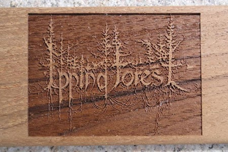 Even really intricate pictures can be engraved