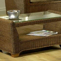 Coffee Tables with tempered glass tops and sturdy hardwood frames