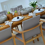 The Kelso Dining Set is modern and contemporary