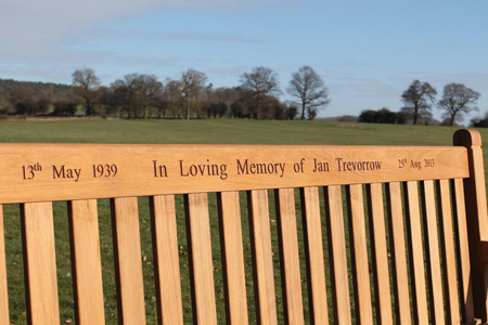 Kensington Teak Bench with engraving
