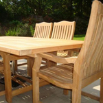 Malvern Medium Teak Dining Set close up