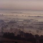 The misty Malvern Hills
