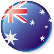 Australian Flag Button