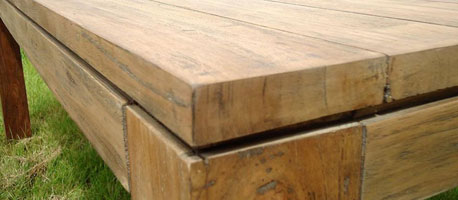 Chunky Hand Crafted Reclaimed Teak Table