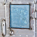 close up of the metal ornament