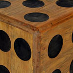 hand crafted wooden dice